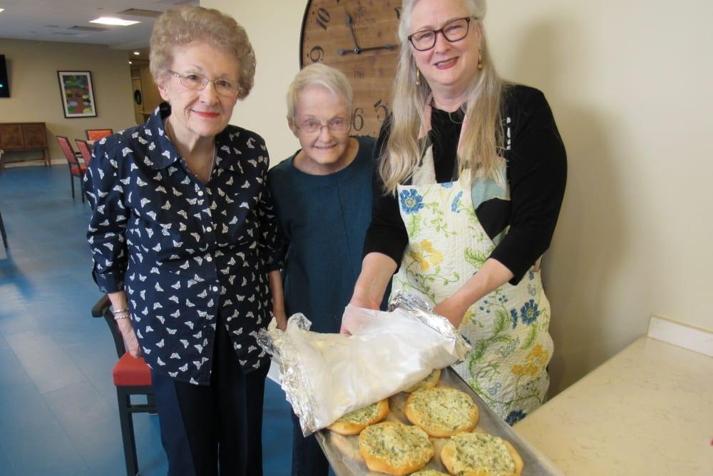 senior residents enjoying baking
