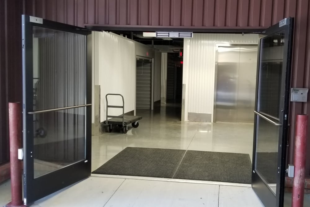 Wide door way at Steele Creek Self Storage in Charlotte, North Carolina
