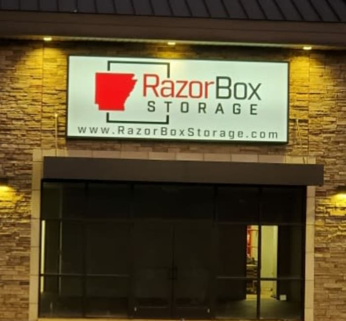 A variety of self storage units at Razor Box Storage @ Chaffee Crossing in Fort Smith, Arkansas