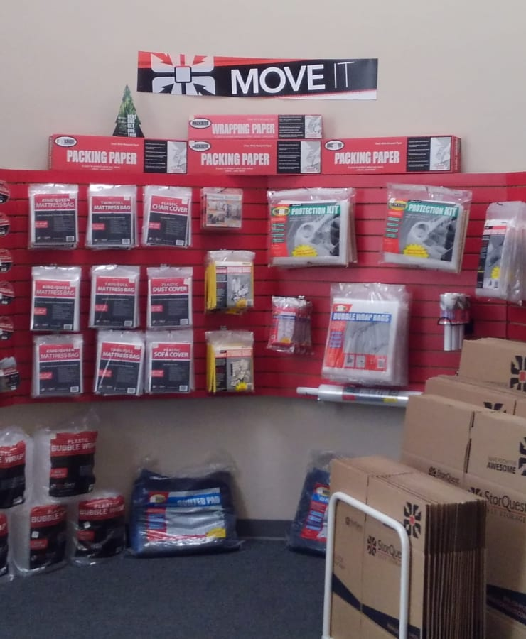 Boxes and moving supplies sold at StorQuest Self Storage in Glendale, Arizona