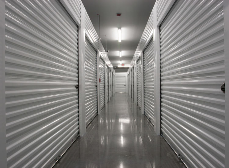 Indoor storage units at Metro Self Storage in Monmouth Junction, New Jersey