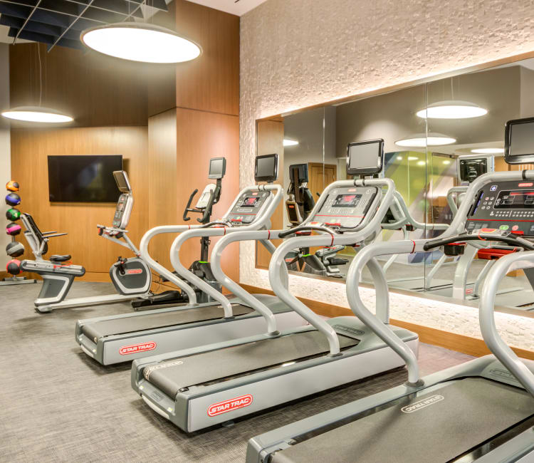 Community state of the art fitness center at Gallery Bethesda II in Bethesda, MD