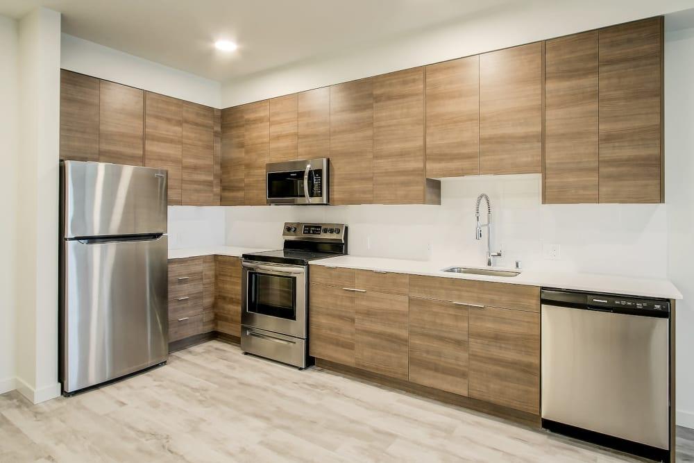 Beautiful Modern Kitchen at Kinect @ Broadway in Everett, Washington