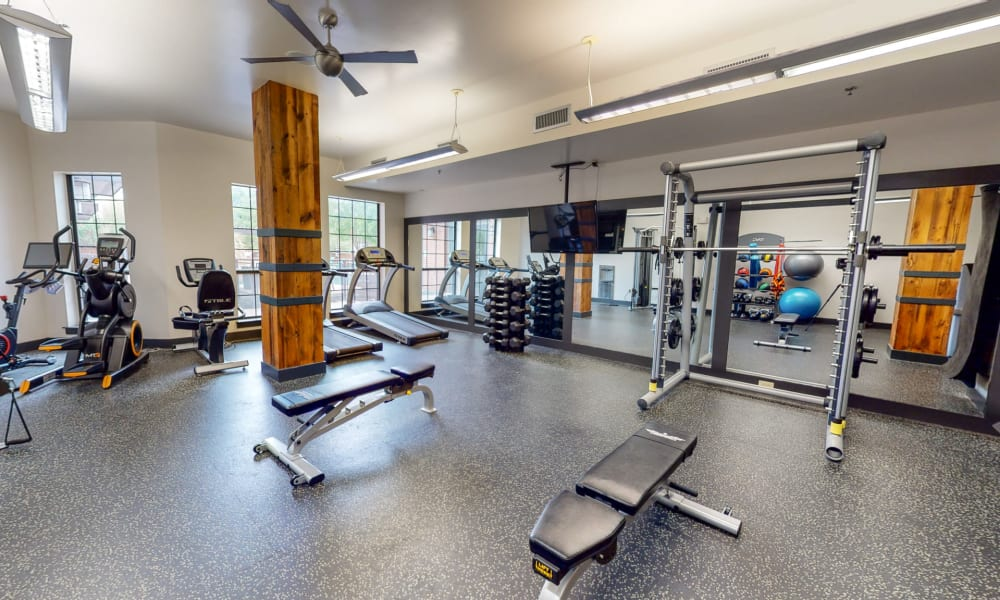 Wonderful gym at Bellrock Bishop Arts in Dallas, Texas