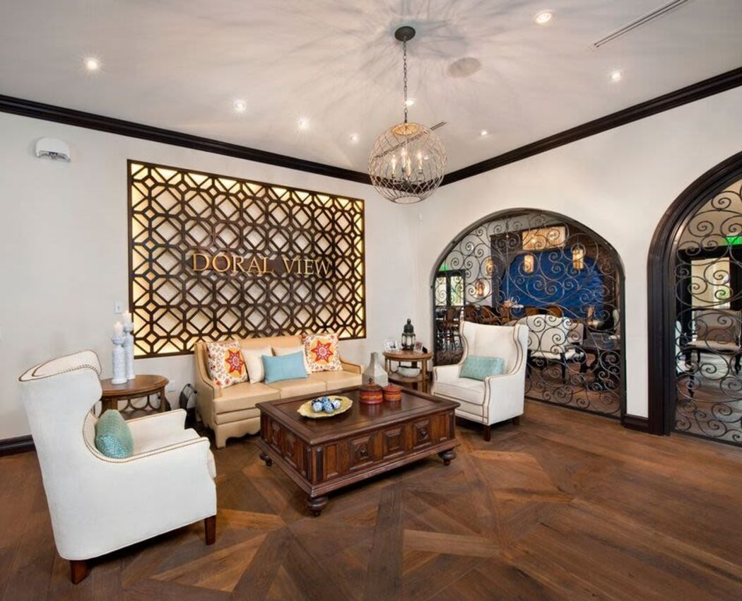 Luxurious resident clubhouse interior at Doral View Apartments in Miami, Florida