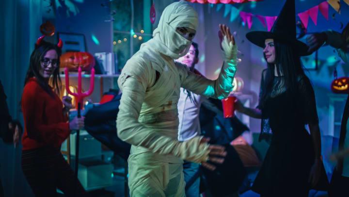 Halloween party at Olympus Las Colinas