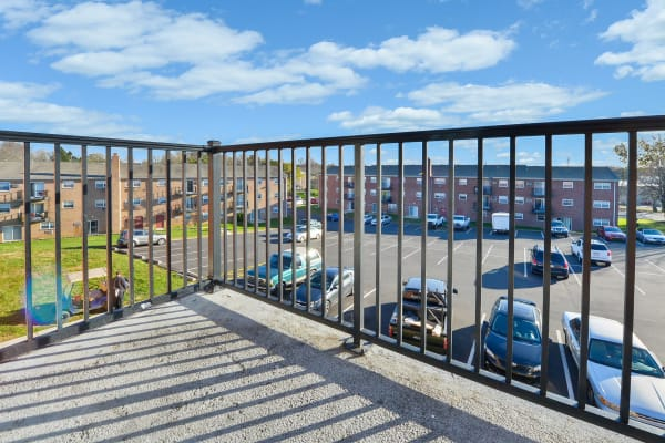Balcony at Hill Brook Place Apartments in Bensalem, Pennsylvania