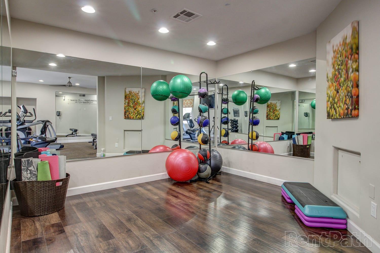 Yoga room at Casa Santa Fe Apartments in Scottsdale, Arizona