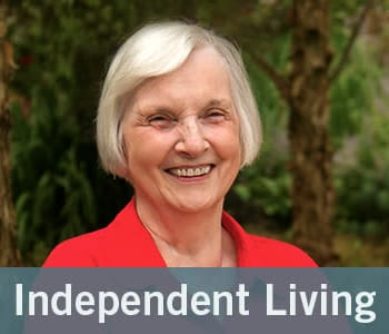 Independent living graphic from Merrill Gardens at Wright Park in Tacoma, Washington