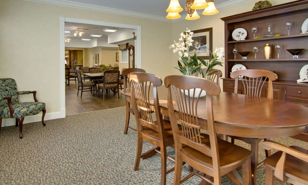 South Pointe Senior Living offers a private dining room  in Washington, Missouri