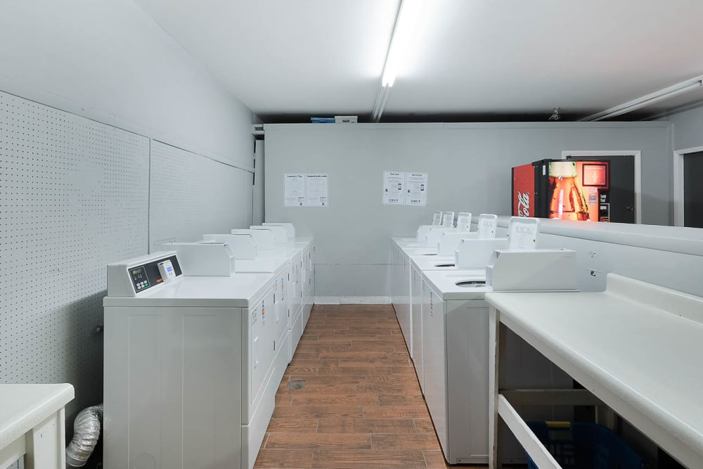 A laundry room at The Reserve at Red Bank in Chattanooga, Tennessee