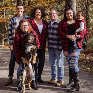 Gwen Reverman, Executive Director from Legacy Living Florence in Florence, Kentucky with her family