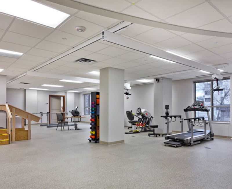 The occupational therapy space at Aurora on France in Edina, Minnesota.
