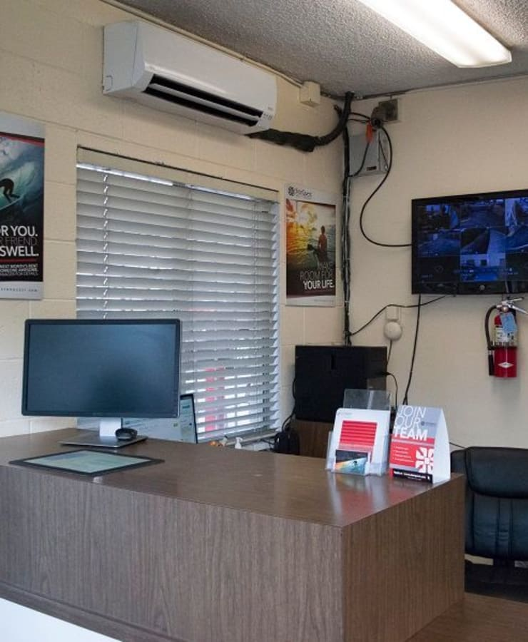 Interior of the leasing office at StorQuest Self Storage in Gainesville, Florida