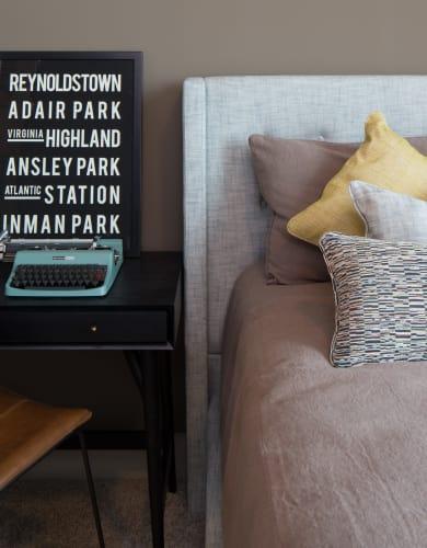 Comfortable bed at Altitude in Atlanta, GA