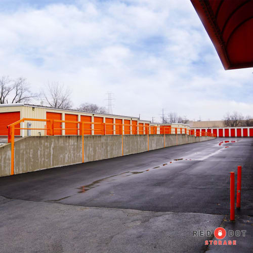 Driveway and climate-controlled storage units at Red Dot Storage in Gurnee, Illinois