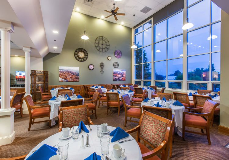Dining hall at Hillcrest of Loveland in Loveland, Colorado