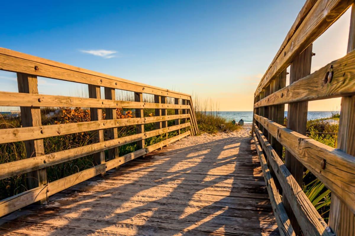The beach near Summerfield in Bradenton, Florida