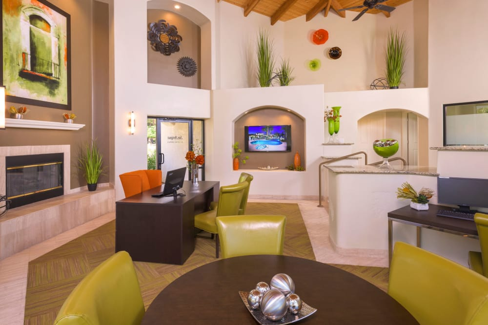 Clubhouse room at San Antigua in McCormick Ranch in Scottsdale, Arizona