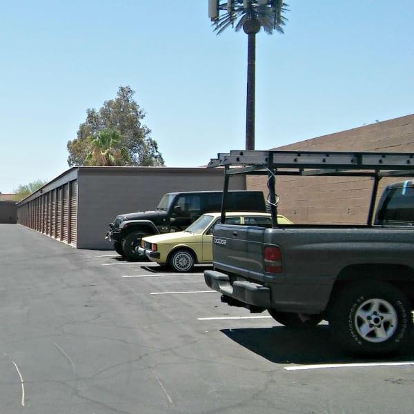 Outdoor auto parking at StorQuest Self Storage in Tempe, Arizona