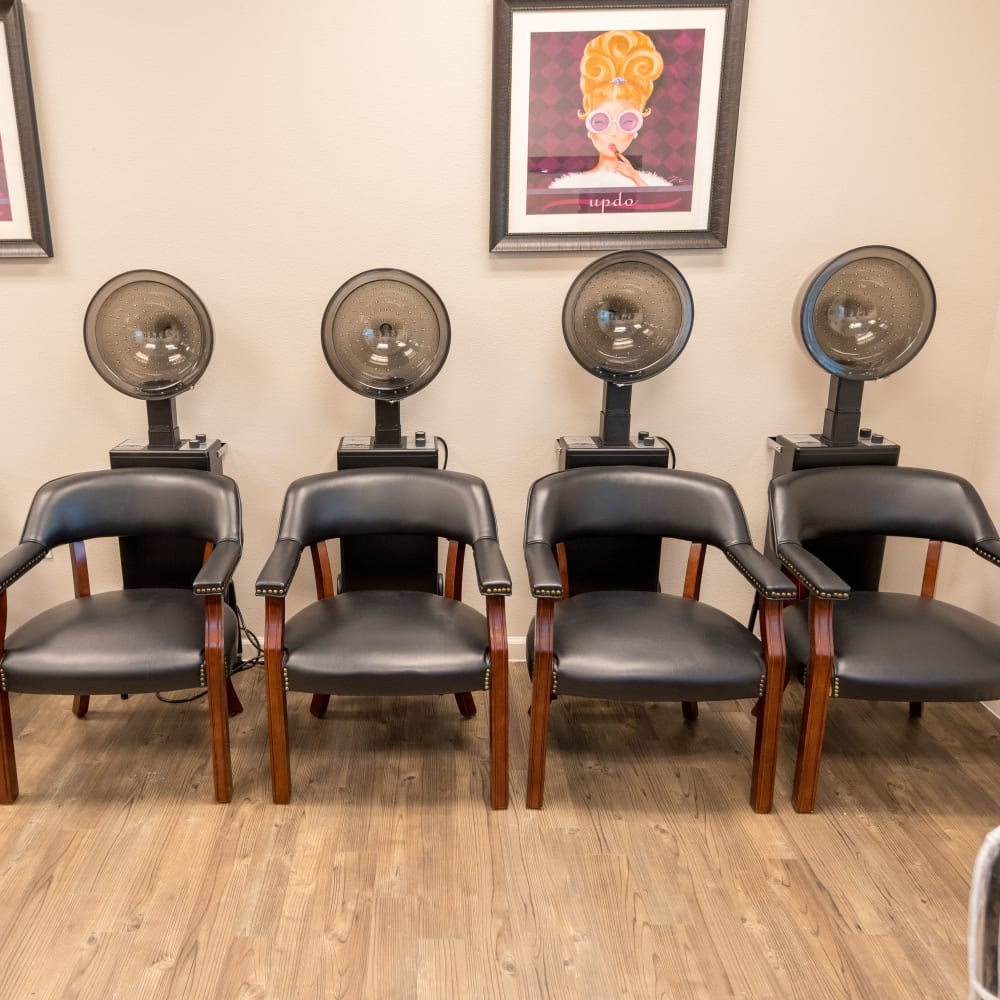 Onsite salon services at Inspired Living Delray Beach in Delray Beach, Florida.