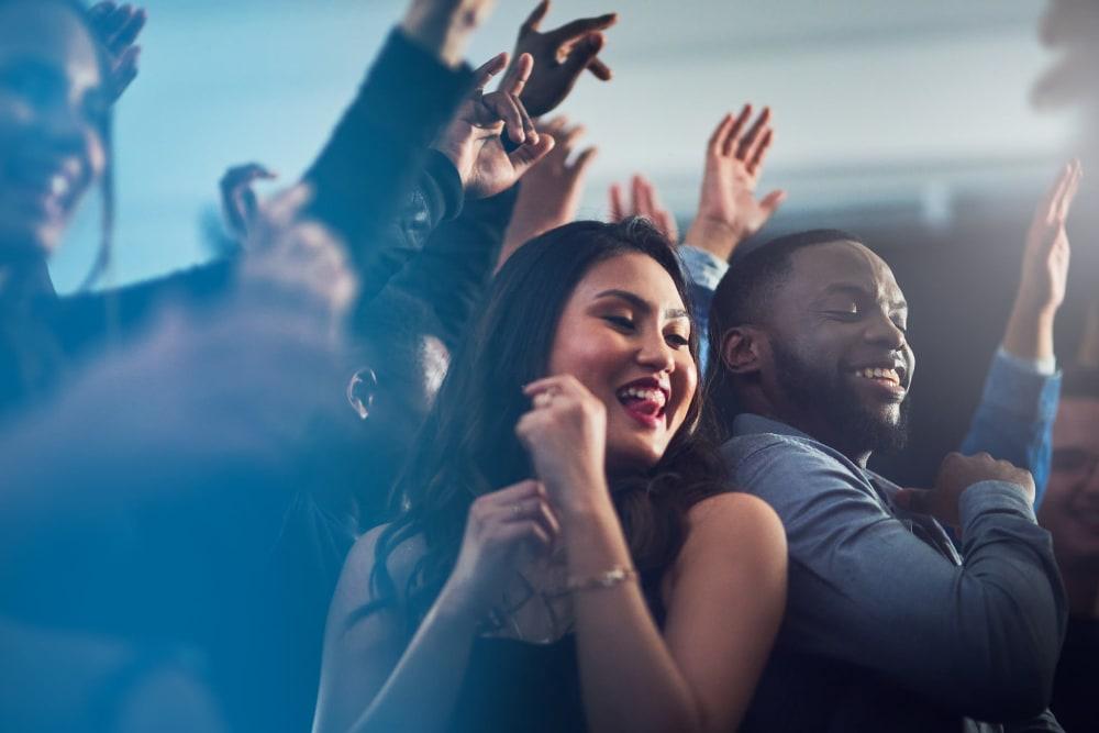 Student residents partying near HERE Atlanta in Atlanta, Georgia close to Georgia Tech