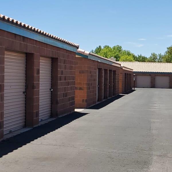Drive-up access storage units at StorQuest Self Storage in Tempe, Arizona