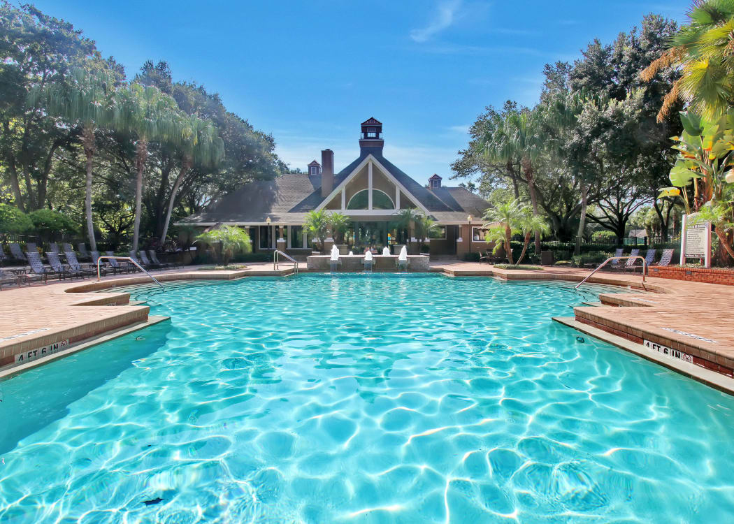 Beautiful swimming pool at IMT Newport Colony in Casselberry, FL