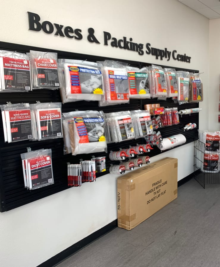 Boxes and packing supplies available at StorQuest Self Storage in Los Angeles, California