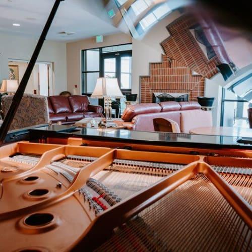 Grand piano at Wesley Gardens in Montgomery, Alabama.