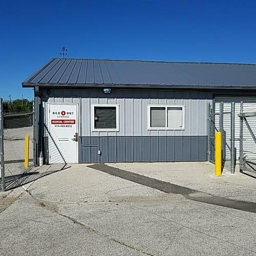 Outdoor storage units at Red Dot Storage in Milwaukee, Wisconsin