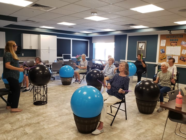 Arbour Square residents take part in the new Drummercise exercise class!