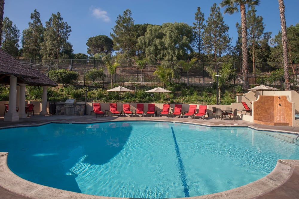 Resort-style swimming pool at Shadow Ridge Apartment Homes in Simi Valley, California