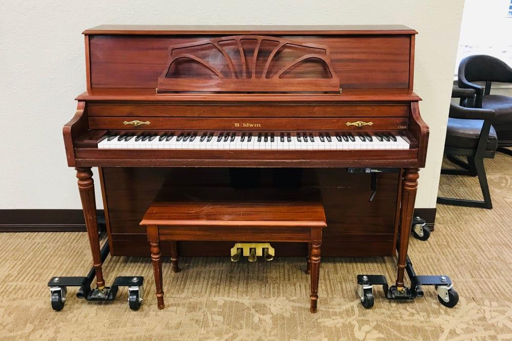A piano at Lionwood in Oklahoma City, Oklahoma.