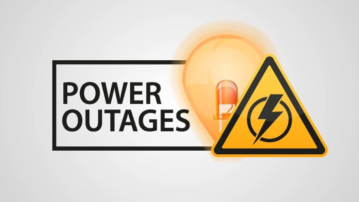 power outages warning symbol
