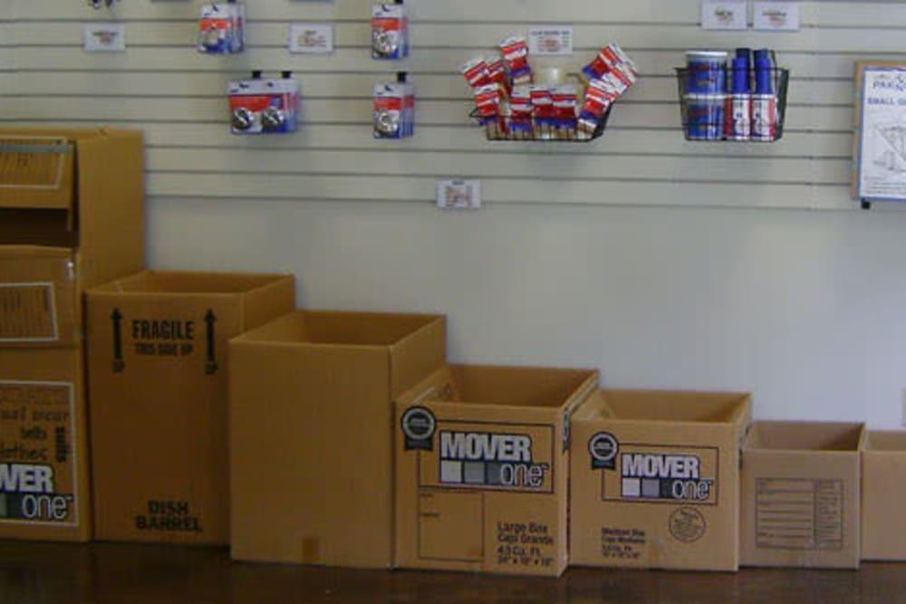 Packing supplies at Overton Road Self Storage in Birmingham, Alabama