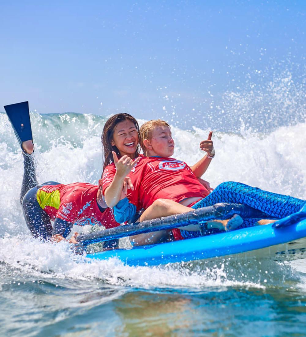 Jesse Billauer help disabled children surf