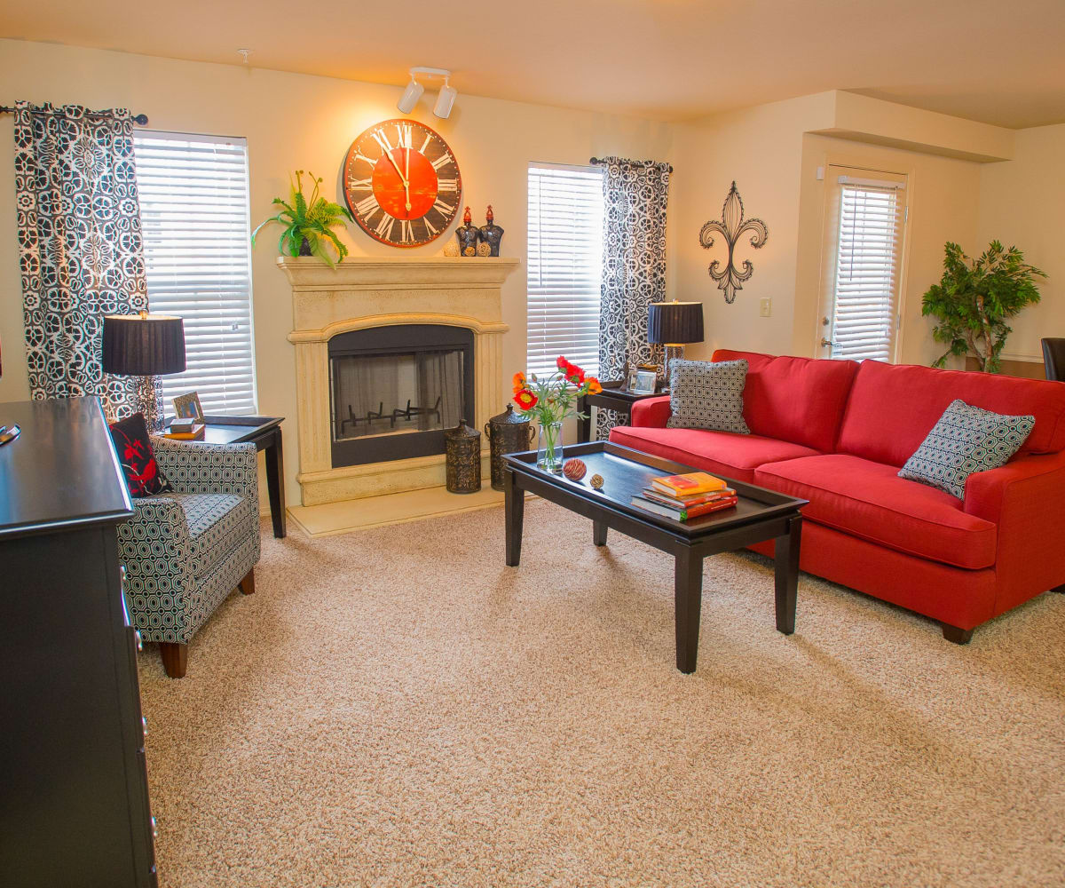 Living room at Coffee Creek Apartments in Owasso, Oklahoma