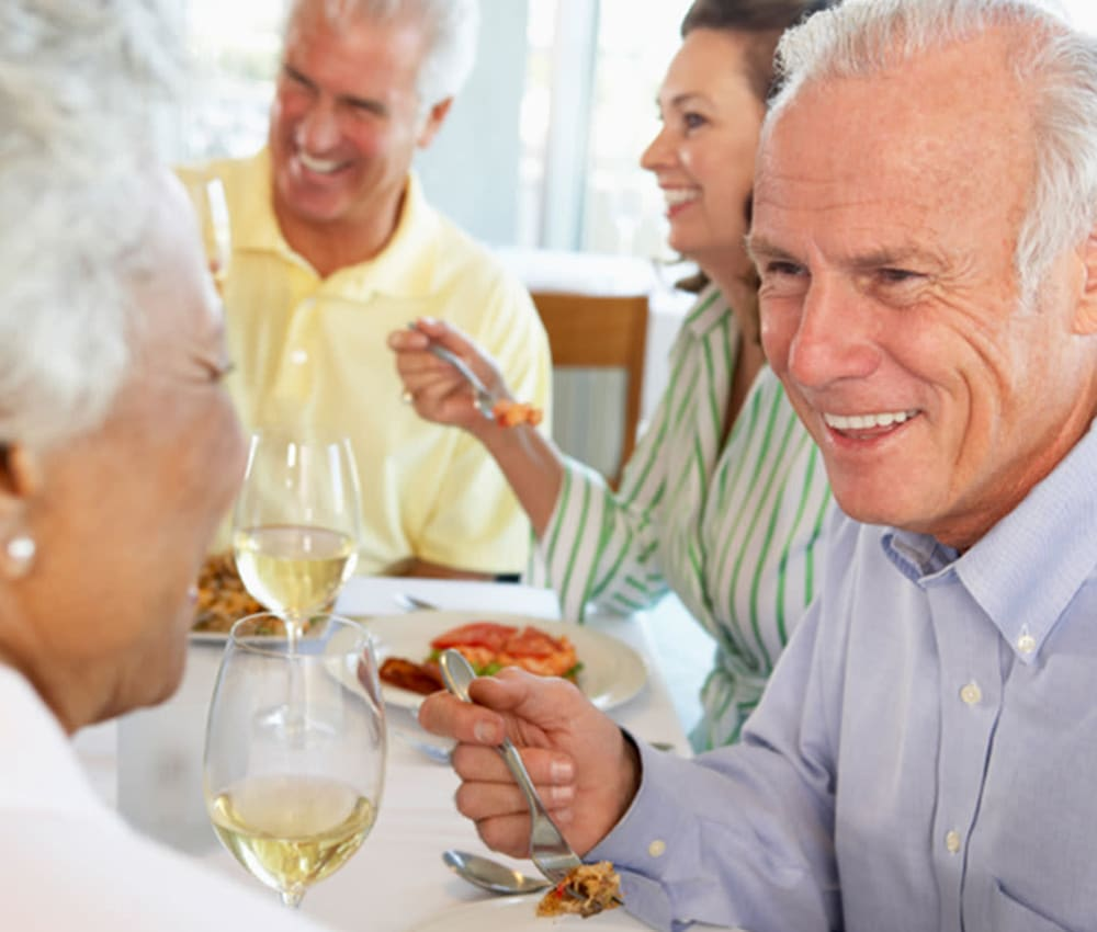 Dining options at Retirement Center Management in Houston, Texas