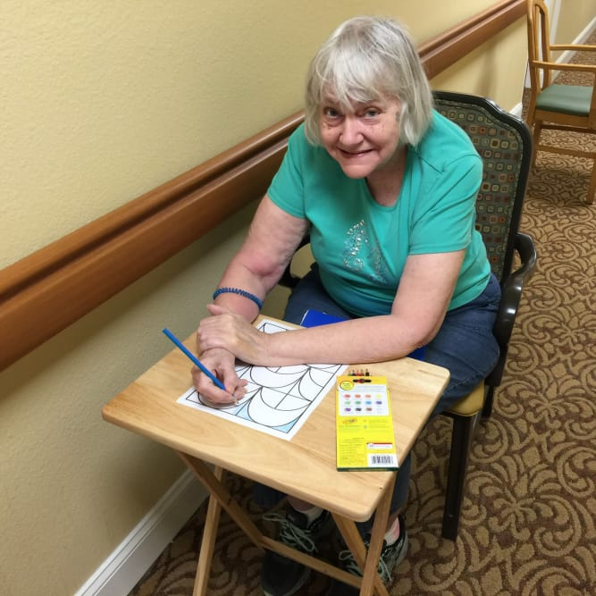 Healthy resident at Grand Villa of New Port Richey in New Port Richey, Florida