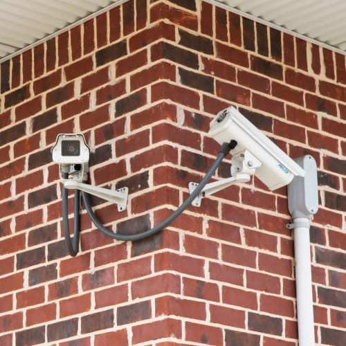 24-hour surveillance cameras at Red Dot Storage in Ashland, Kentucky