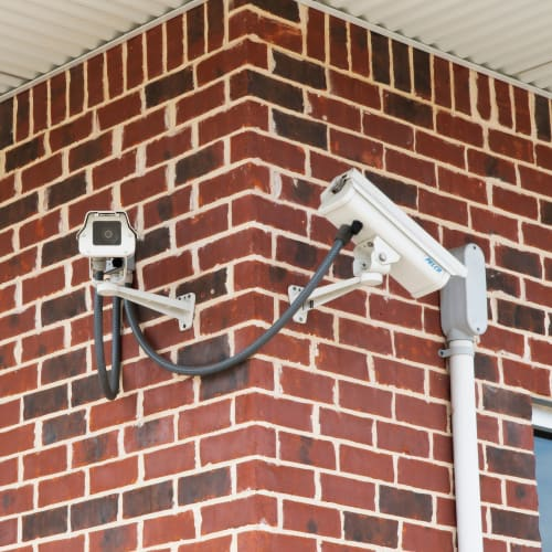 24-hour surveillance cameras at Red Dot Storage in Radcliff, Kentucky