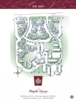 Site map of Maple Grove Apartments in Sterling Heights, Michigan