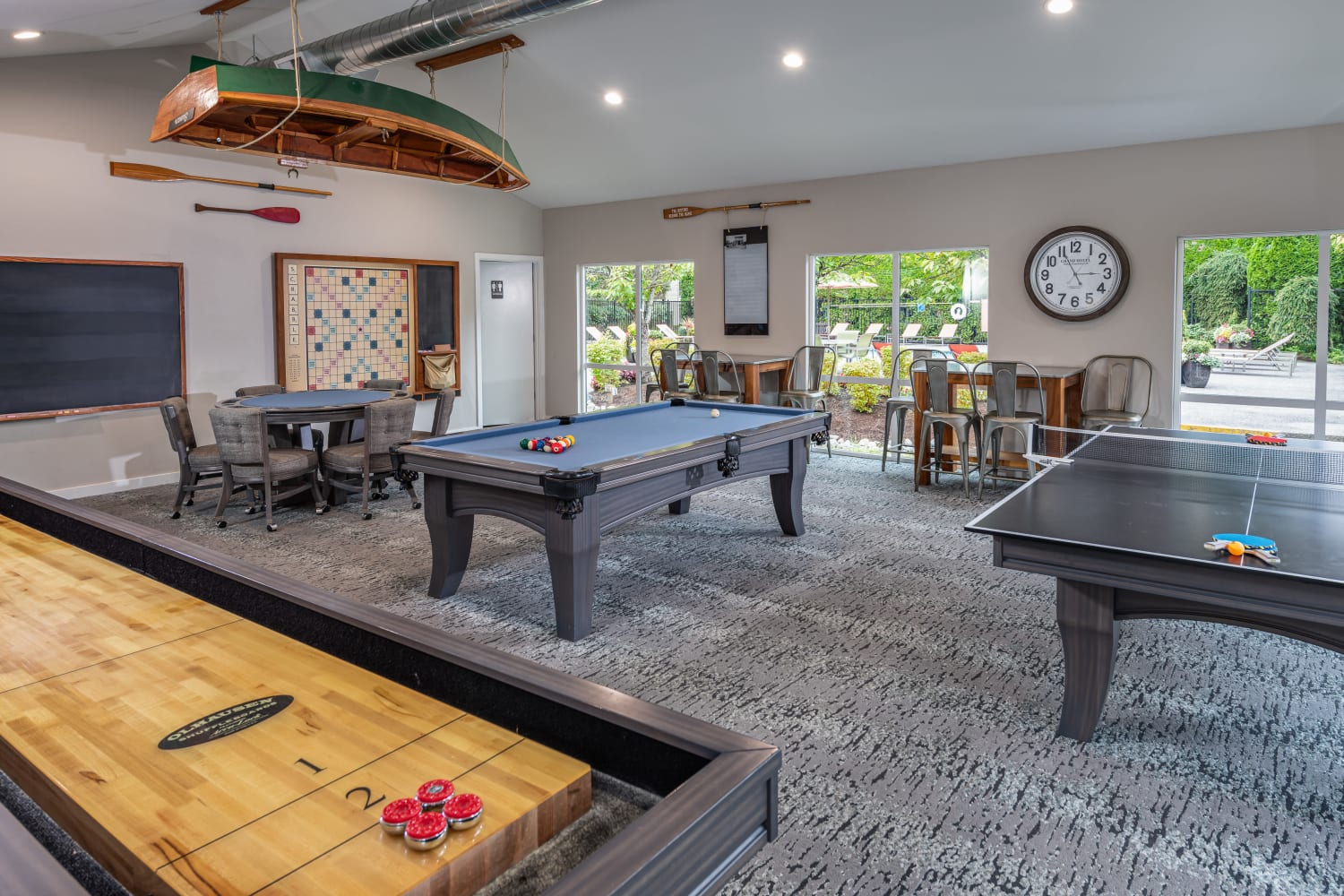 Game Room at Campbell Run Apartments in Woodinville, Washington