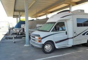 Covered RV and boat parking in Yuma AZ at American Self Storage