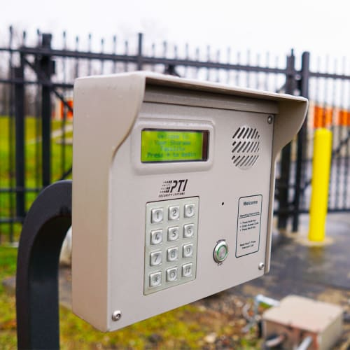 Secure entry keypad at Red Dot Storage in Holt, Michigan