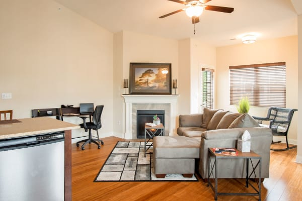 Park Place at Saratoga offers a living room in Saratoga Springs, NY