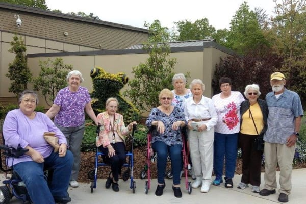 Residents ofDiscovery Senior Living visiting the Atlanta Botanical Gardens
