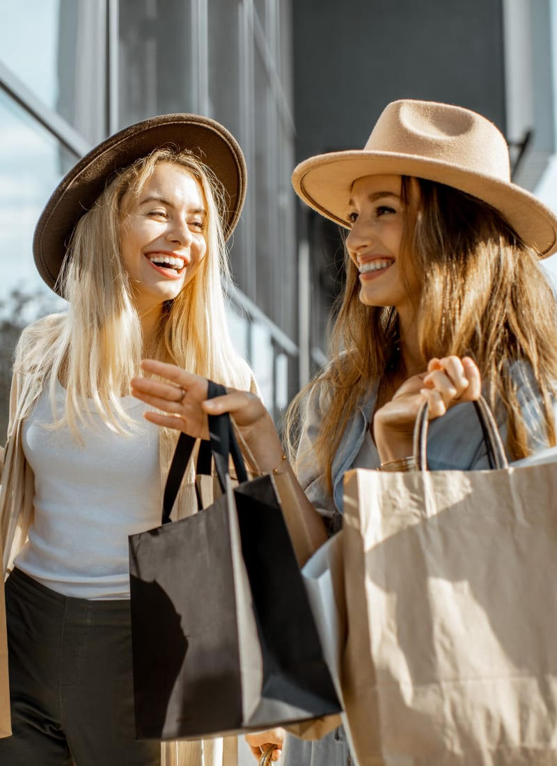Friends shopping in Katy, Texas near Marquis at Katy