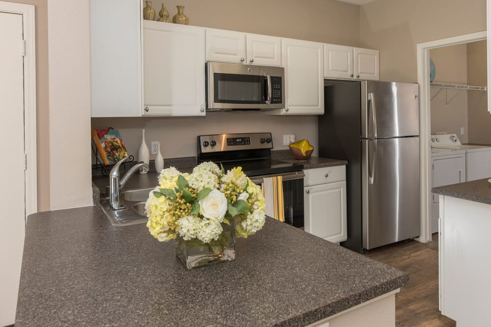Apartment kitchen at Cross Pointe Apartment Homes in Antioch, California